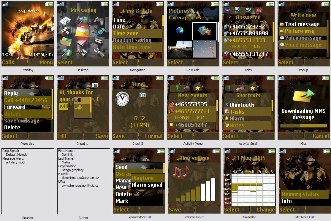 Battlefield 2 Sony ericsson theme